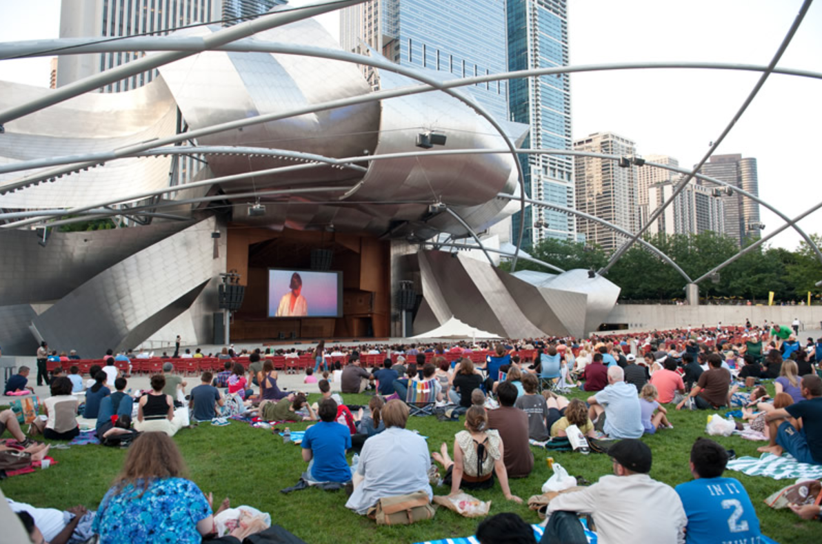 Image of the Jay Pritzker Pavilion in the City of Chicago